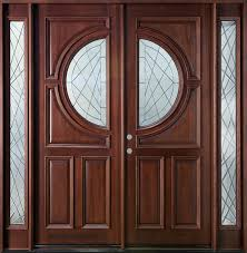 furniture custom solid wood double entry door design with narrow