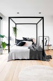 Master Bedroom Decor Diy Bedroom Oak Flooring Pillows Wooden Bed Large Mirror Modern