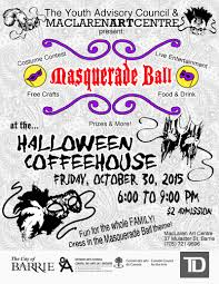 youth halloween coffeehouse maclaren art centre