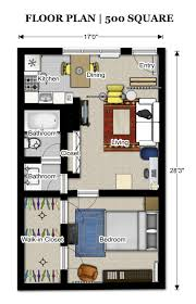 Studio Plan by Flooring Small Home Floorplan Studio Apartment Floor Plans