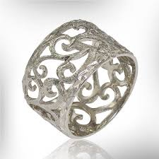 unique gifts wedding sterling silver vintage ring unique gift 100 filigree band