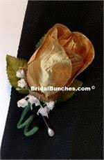 Gold Boutonniere Boutonnieres