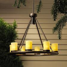 Outdoor Battery Operated Lights Chandeliers Design Magnificent Hanging Outdoor Chandeliers For
