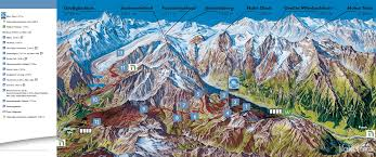 Alps Mountains Map The Grossglockner Alpine Meeting With Glacier
