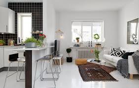 interior design ideas for living room and kitchen modern interior design idea pleasing small kitchen living room