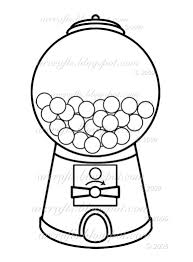 bubble gum machine drawing gumball machine coloring page picture i