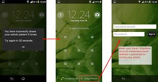 account recovery for android how to unlock bypass android phone screen password and remove