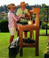 Outdoor Potting Bench With Sink Potting Bench With Sink Garden Work Bench Outdoor Shelves