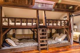 Plans For Building Built In Bunk Beds by Tour This Playful And Functional Barn Style Kids U0027 Room Hgtv U0027s
