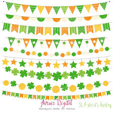 st patrick u0027s day bunting banner clipart scrapbook printable