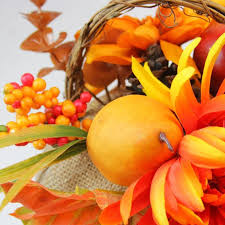 flowers and fruit the aisle autumn harvest burlap desktop pumpkin with