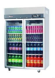 coca cola fridge glass door turbo air kr45 2g