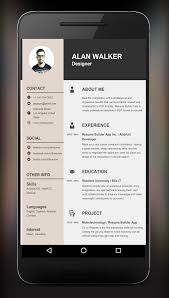 E Resume Builder Resume Builder App Android Apps On Google Play