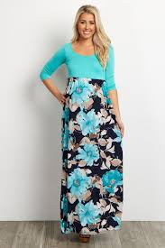 maxi dresses with sleeves lavender floral bottom 3 4 sleeve maternity maxi dress