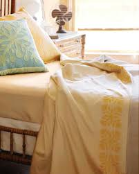 stenciled hawaiian print bed linens martha stewart