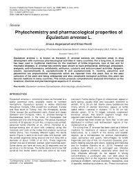 phytochemistry and pharmacological properties of equisetum arvense l