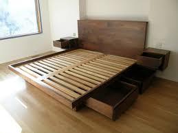 Make Your Own Platform Bed Frame Bed Frames Wood Diy Platform Bed With Storage Modern Storage