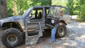 lifted jeep drawing how to make removable half doors jeep cherokee part 1 youtube