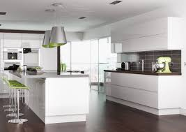 Fitted Kitchen Ideas Endearing Large Fitted Kitchen Featuring White Wooden Kitchen