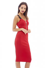 women u0027s zip front bodycon red dress ax paris usa fashion dresses