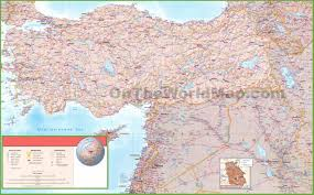 Baghdad World Map by Map Of Syria Iraq And Turkey