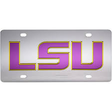 lsu alumni sticker lsu license plates lsu tigers license plate frames lsu alumni plate