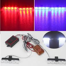 remote control car lights 2x4 led dc 12v strobe warning light wireless remote control car