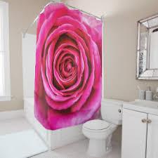 Pink Flower Shower Curtain Pink Flowers Shower Curtains Zazzle