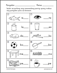 pantig worksheets part 2 samut samot