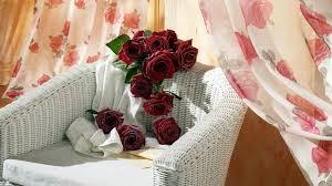 flower love romantic beautiful curtain room red vervet roses