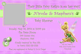 Baby Shower Invitations And Thank You Cards Disney U0027s Tinkerbell Baby Shower Invitation Or Thank You