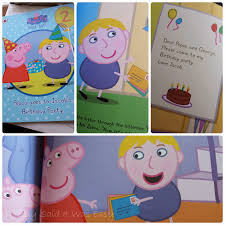 penwizard personalised peppa pig birthday party book review