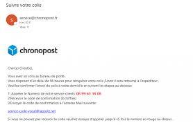 siege chronopost mail frauduleux chronopost la nouvelle arnaque du web