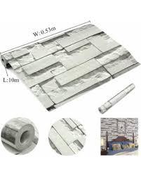 deal alert brick pattern 3d textured non woven wallpaper sticker