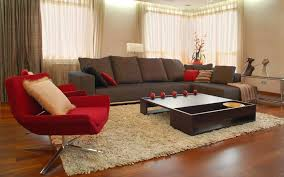 home design gold contemporary red black and white living room