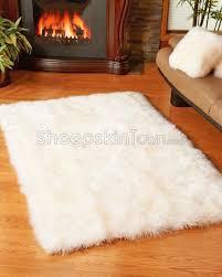 Polar Bear Fur Rug Rectangular Sheepskin Rug Roselawnlutheran