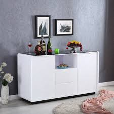 uenjoy sideboard cabinet high gloss cupboard storage buffet 2