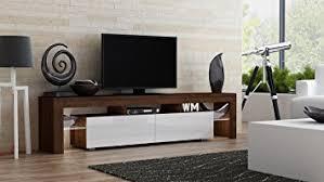 Modern Furniture Tv Stand by Amazon Com Tv Stand Milano 200 Walnut Line Modern Led Tv