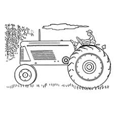 25 free printable tractor coloring pages
