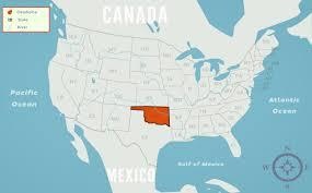 Map Oklahoma Oklahoma In Map Wisconsin Map