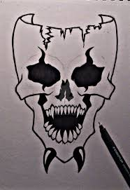 drawings skulls easy coloring pages easy to draw