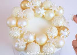 ornament wreath cake tutorial my cake school