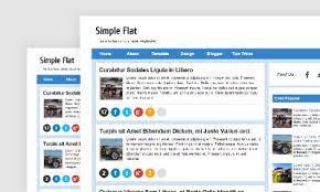 simple flat blogger template free download best responsive