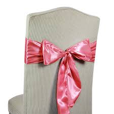 pink chair sashes satin chair sashes
