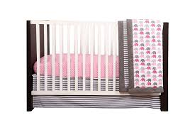 Crib Bedding Set With Bumper Bacati Elephants Pink Grey 10 Pc Crib Set Including Bumper Pad