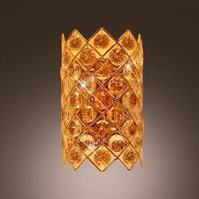 Yellow Wall Sconce Fashion Style Luxurious Golden Yellow Wall Lights Crystal Lights