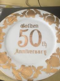 anniversary plate norcrest china gold 50th anniversary plate household in