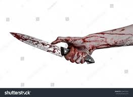 large halloween background bloody hand holding knife large bloody stock photo 224675323