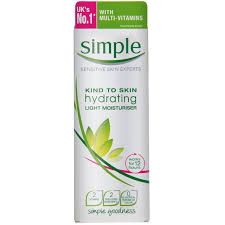 light moisturizer for sensitive skin kind to skin hydrating light moisturiser simple skincare malaysia