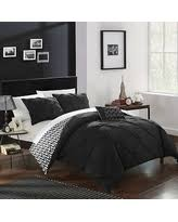 Black Comforter King Holiday Special Chic Home 4 Piece Erin Purple Comforter Set King